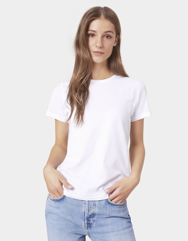 T-shirt blanc en coton bio - optical white - Colorful Standard num 2