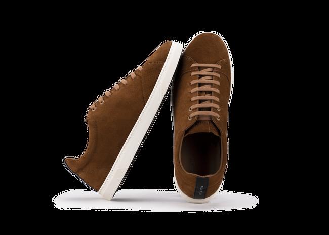 Chaussure en gravière suède cognac / semelle off-white - Oth num 1