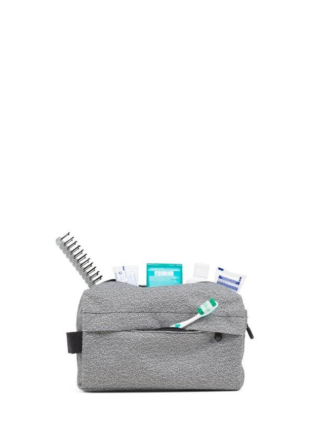 Trousse de toilette grise recyclé - pak vivid monochrome - pinqponq num 3