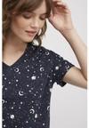 Haut de pyjama motif galaxy en coton bio - People Tree - 4