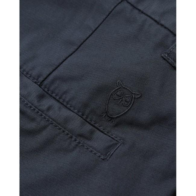 Chino court ample bleu nuit en coton bio - bob - Knowledge Cotton Apparel num 3