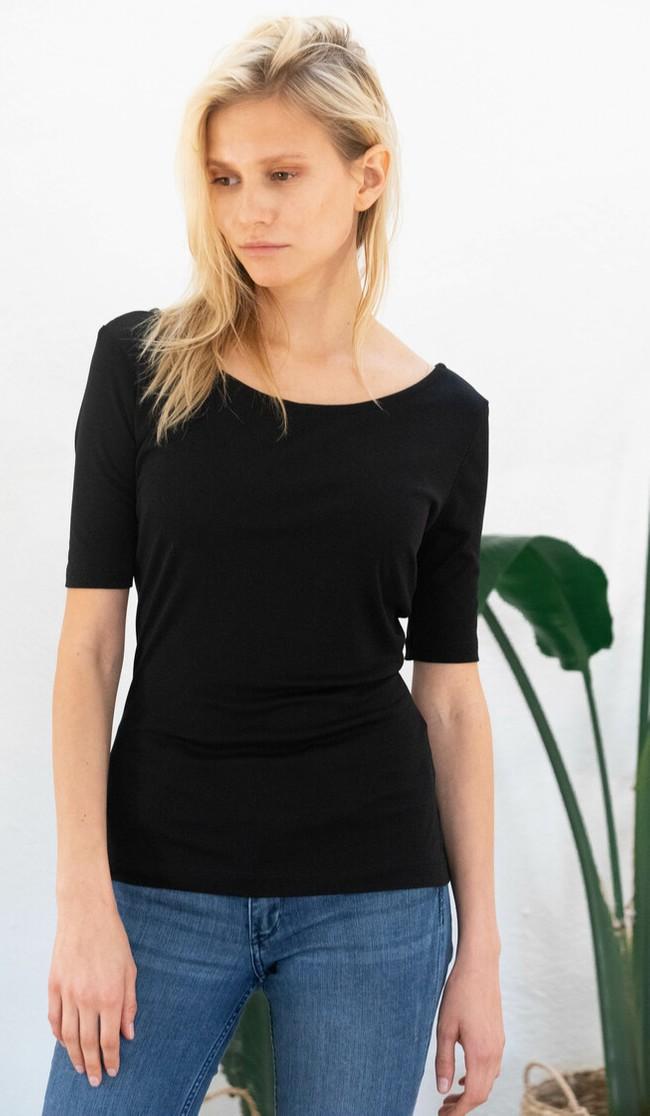 T-shirt jasmin noir - Avani num 2