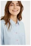 Chemise pyjama rayée bleue en coton bio - People Tree - 4