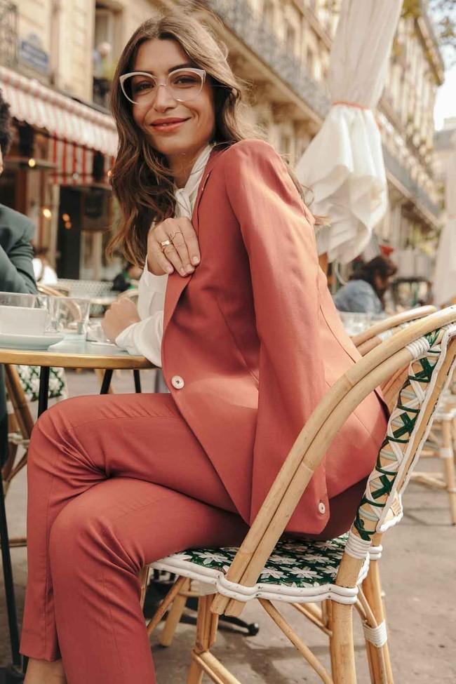 Pantalon tailleur new-york rose brique - 17h10 num 4