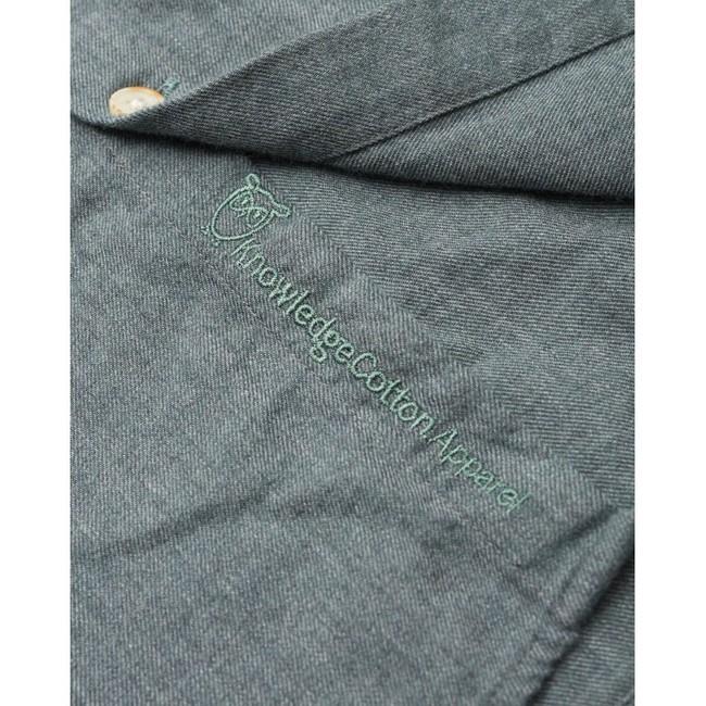 Chemise en flanelle vert-de-gris en coton bio - Knowledge Cotton Apparel num 3