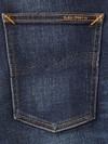 Jean slim délavé bleu foncé coton bio - lean dean dark deep worn - Nudie Jeans - 6