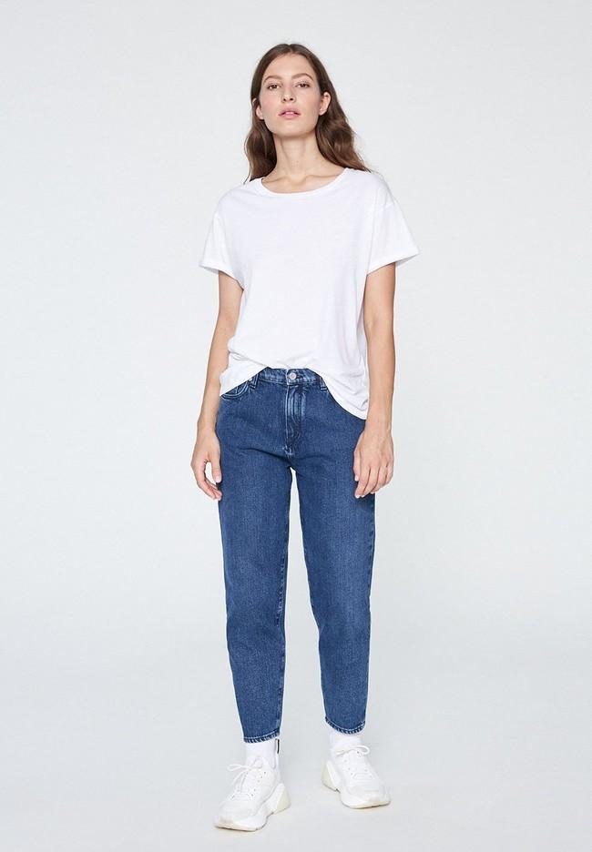 T-shirt blanc coton bio - naalin - Armedangels num 3