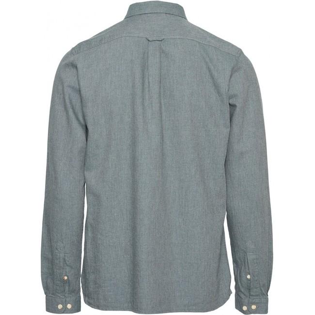 Chemise en flanelle vert-de-gris en coton bio - Knowledge Cotton Apparel num 1