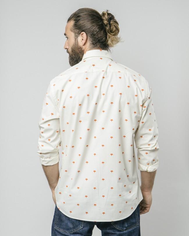 Fox in the snow white printed shirt - Brava Fabrics num 5