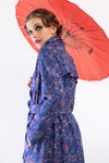 "Robe ""trench"" motif natation - Bleu Tango - 3"