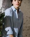 Sakuraya tea oversized blouse - Brava Fabrics - 7