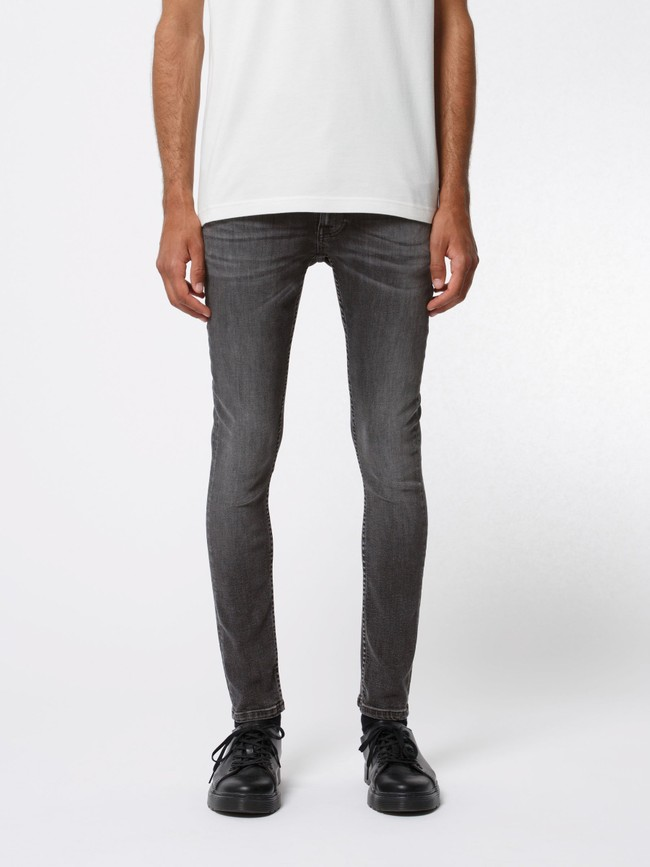 Jean skinny gris en coton bio - tight terry fade to grey - Nudie Jeans