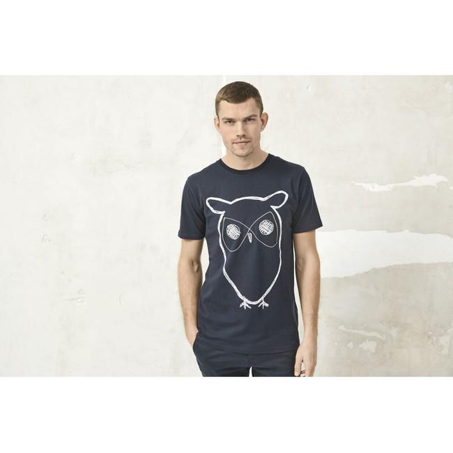 T-shirt chouette en coton bio - Knowledge Cotton Apparel num 1