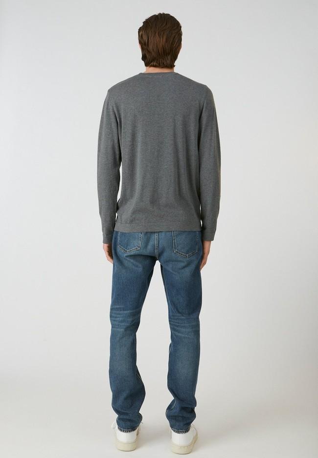 Pull gris en coton bio - laado - Armedangels num 1
