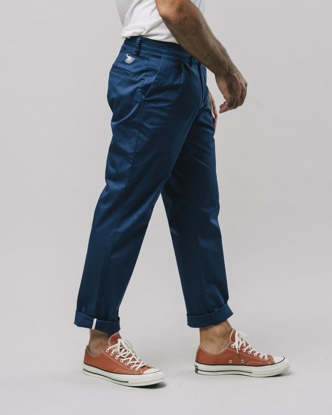 Pleated chino pants navy - Brava Fabrics num 3