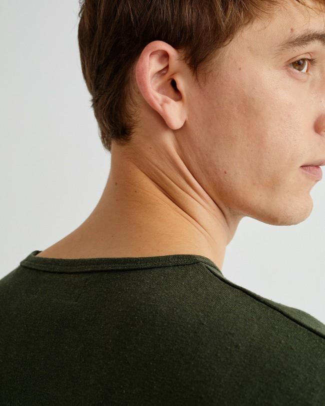 T-shirt vert forêt en chanvre et coton bio - mo2 - Thinking Mu num 2