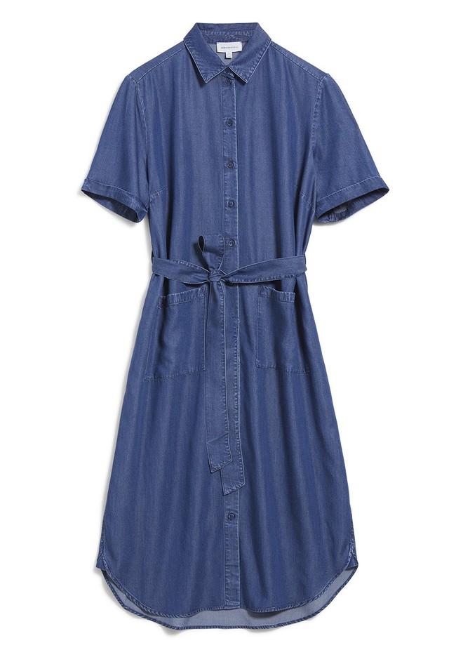 Robe col chemise bleu jean en tencel - maaisa - Armedangels num 4