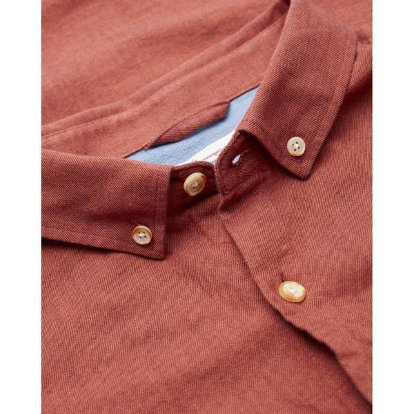 Chemise rouge en coton bio - mélange effet flanelle - Knowledge Cotton Apparel num 2