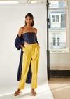 Pantalon azur // jaune - Bagarreuse - 2
