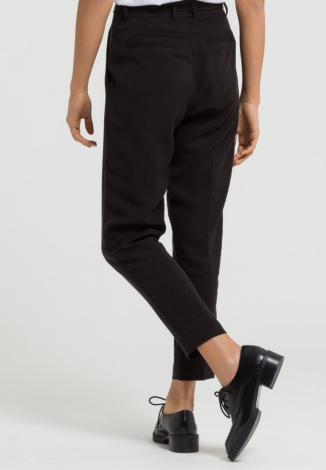 Pantalon noir en tencel - jolena - Armedangels num 1