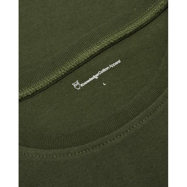 T-shirt ample vert forêt en coton bio - Knowledge Cotton Apparel num 2