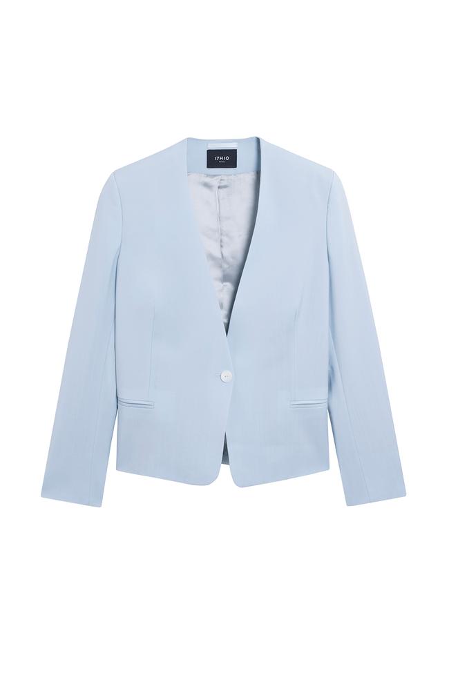 Veste tailleur sydney bleu pastel - 17h10 num 2
