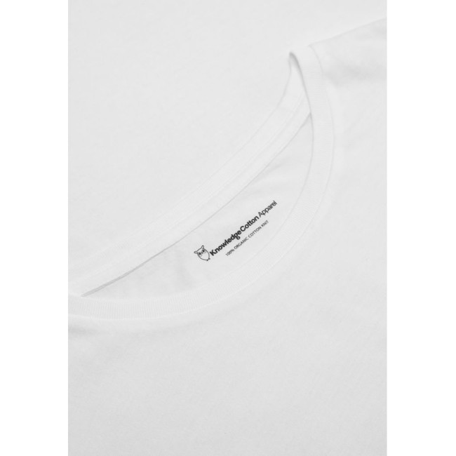 T-shirt blanc en coton bio - Knowledge Cotton Apparel num 2