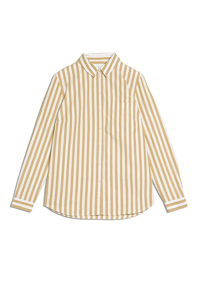 Chemise rayée jaune en coton bio - onervaa - Armedangels num 4