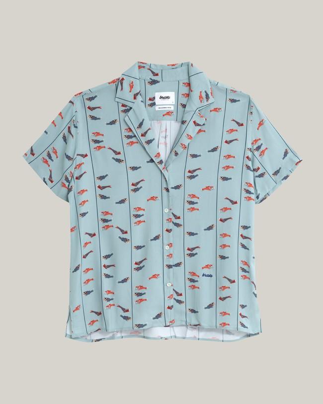 Koinobori kite aloha blouse - Brava Fabrics num 1