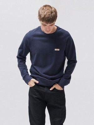 Sweat bleu en coton bio - samuel - Nudie Jeans num 4