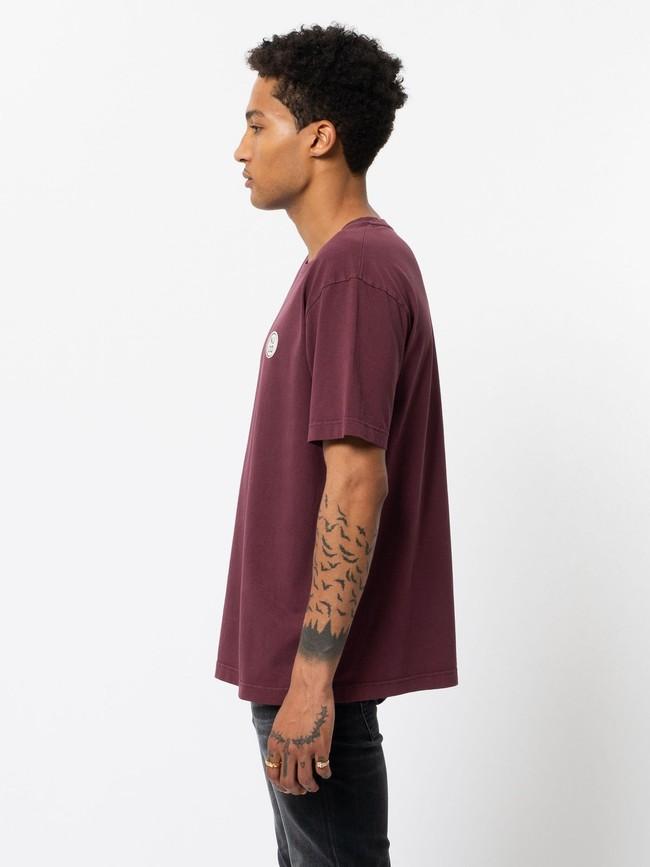 T-shirt ample figue en coton bio - uno njco circle - Nudie Jeans num 1