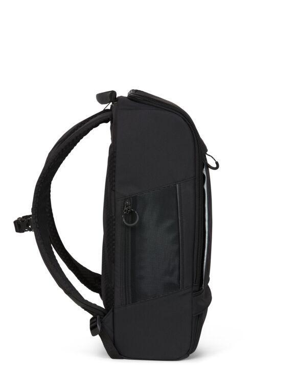 Sac à dos noir recyclé - cubik grand - pinqponq num 2