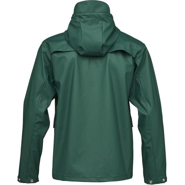 Imperméable vert en polyester recyclé - Knowledge Cotton Apparel num 3