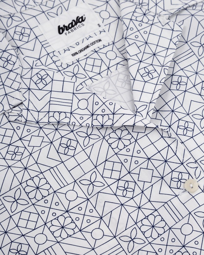 Portuguese tiles shirt dress - Brava Fabrics num 2