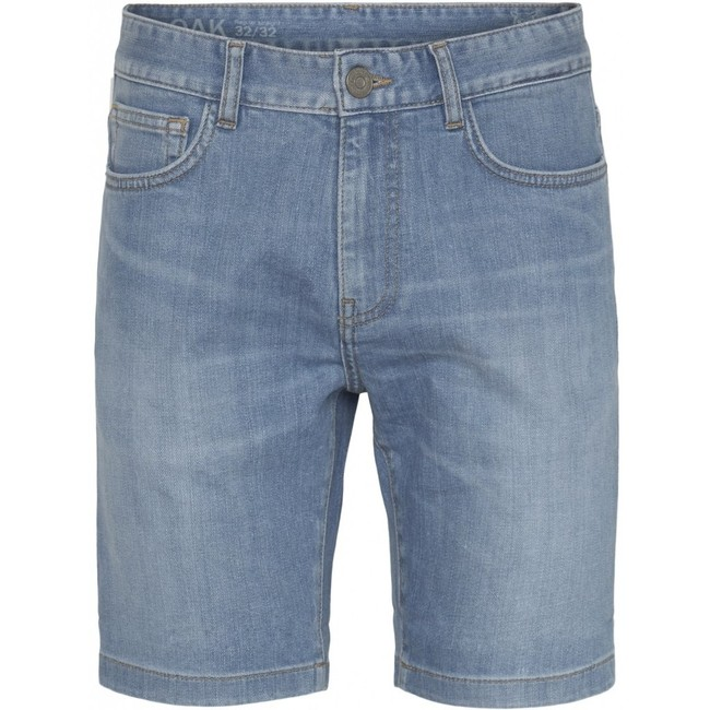 Short en jean bleu en coton bio - birch - Knowledge Cotton Apparel