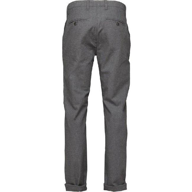 Chino droit flanelle gris en coton bio - chuck - Knowledge Cotton Apparel num 1