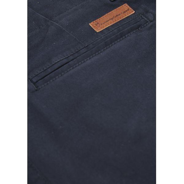 Short chino bleu marine foncé en coton bio - Knowledge Cotton Apparel num 3