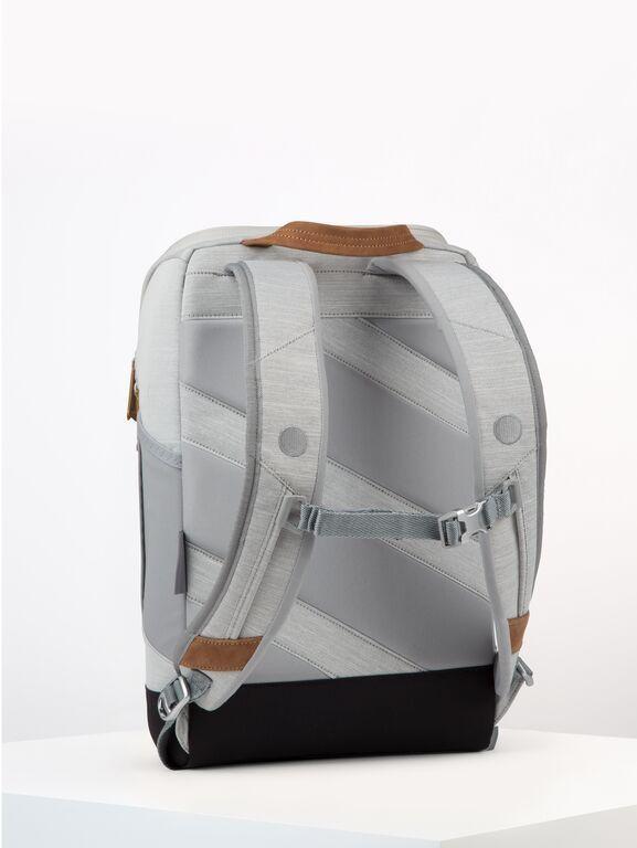 Sac à dos gris clair recyclé - cubik medium grey melange dlx - pinqponq num 2