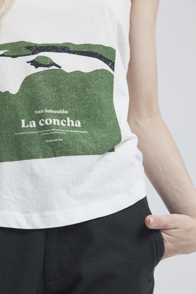 Top imprimé blanc en coton bio - la concha - Thinking Mu num 1
