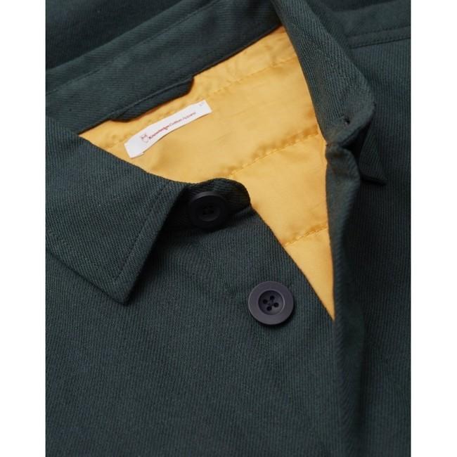 Surchemise vert forêt en coton bio et polyester recyclé - pine - Knowledge Cotton Apparel num 1