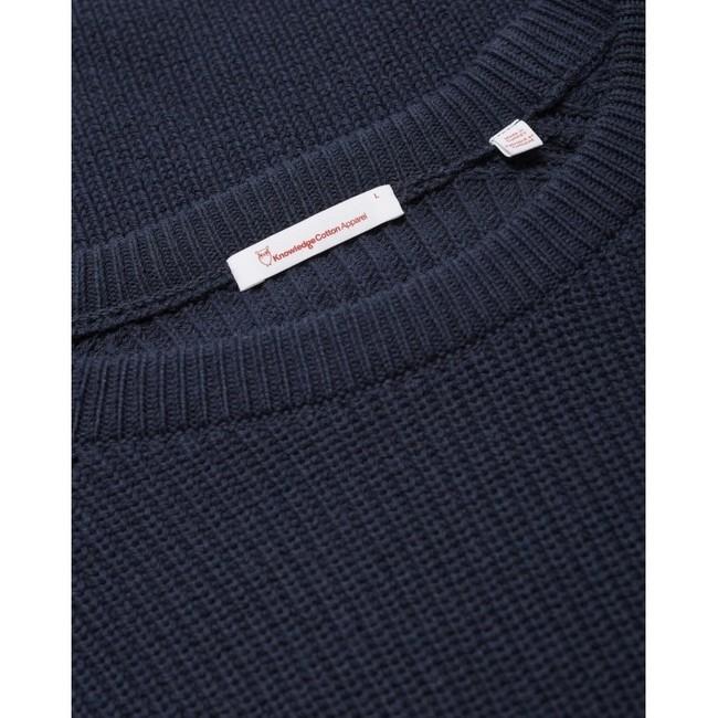 Pull marine en coton bio - valley - Knowledge Cotton Apparel num 3