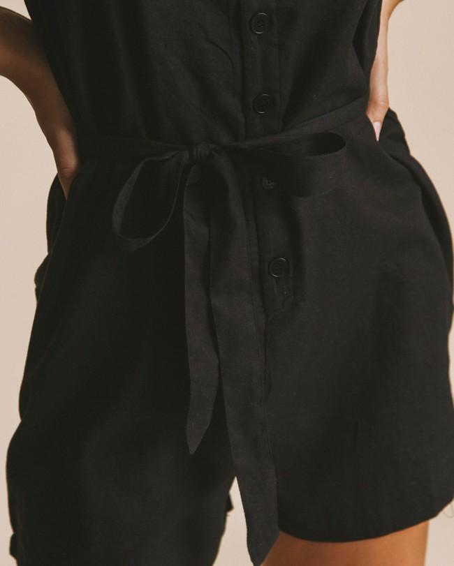 Combi-short noire en coton bio - lilly - Thinking Mu num 1