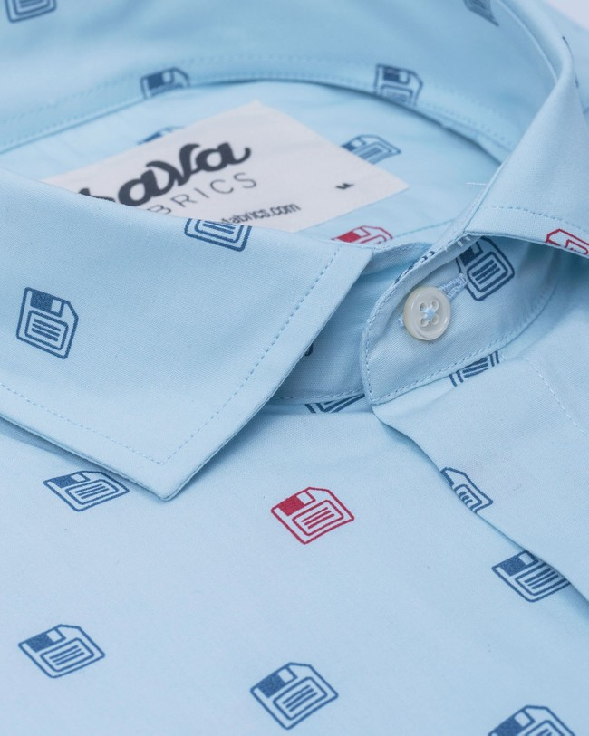 90's diskettes printed shirt - Brava Fabrics num 3