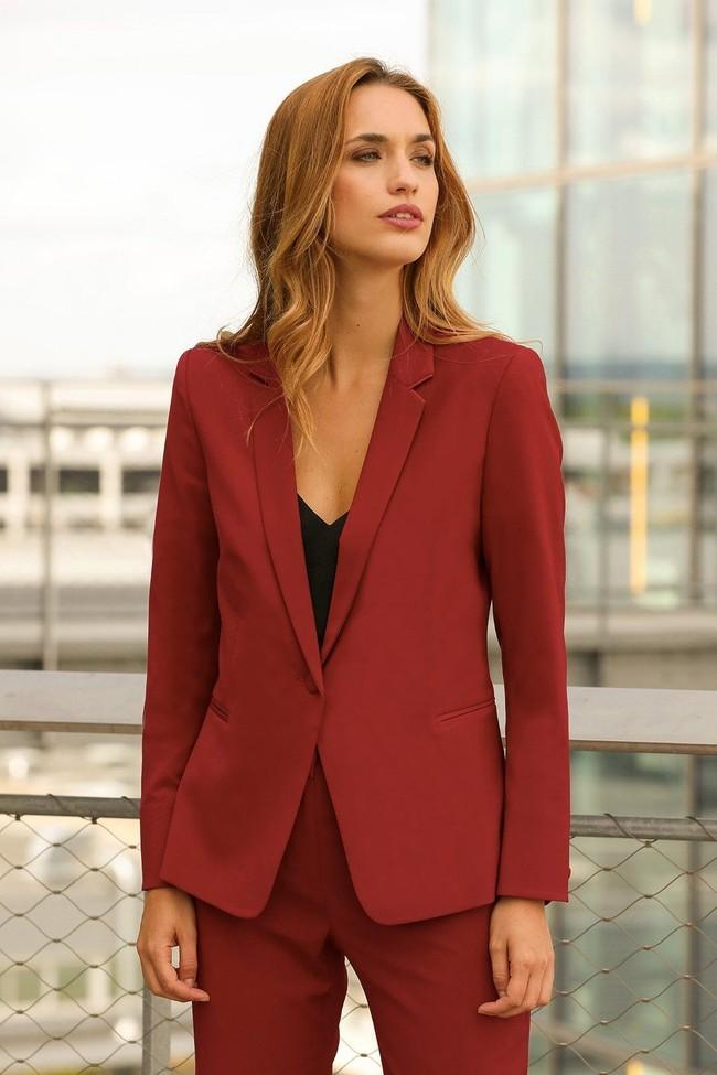 Veste tailleur paris rouge - 17h10