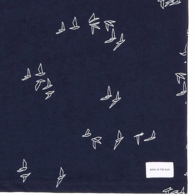 T-shirt en coton bio navy seagull - Bask in the Sun num 3