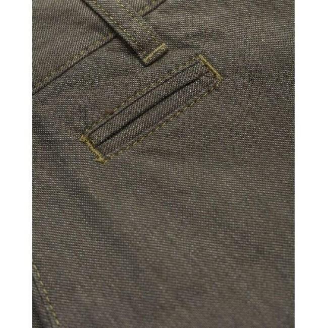 Pantalon chino droit flanelle vert forêt en coton bio - chuck - Knowledge Cotton Apparel num 2