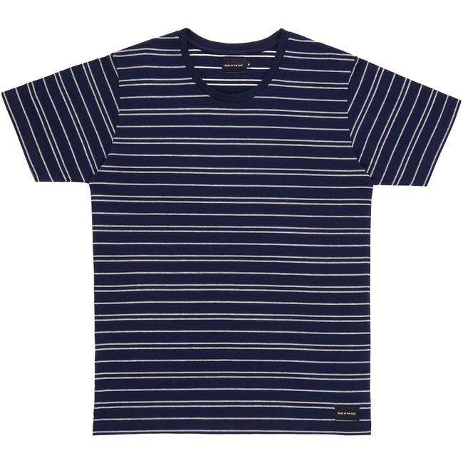 T-shirt en coton bio navy akox - Bask in the Sun