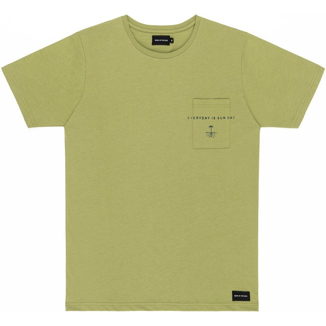 T-shirt en coton bio olive sun day - Bask in the Sun