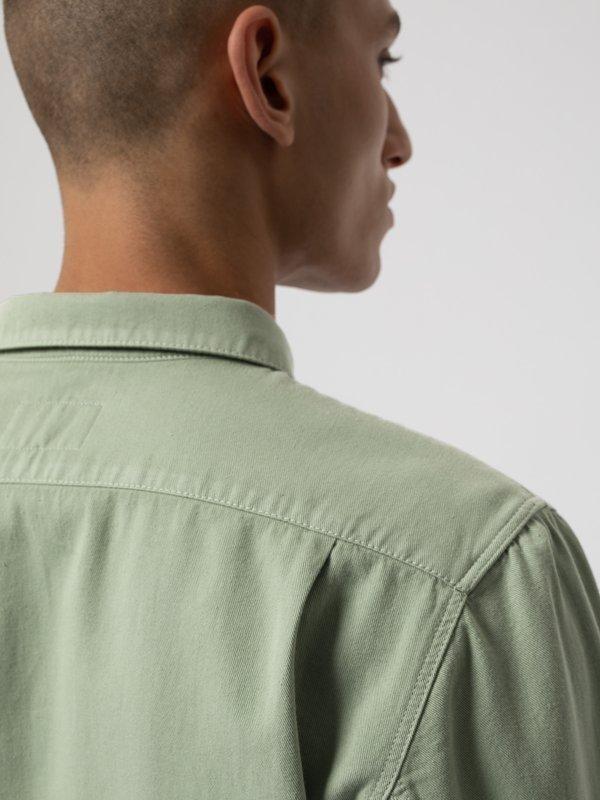 Chemise vert pâle en coton bio - henry - Nudie Jeans num 5
