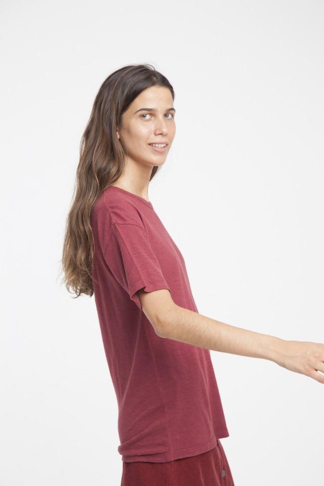 T-shirt en chanvre rouge - Thinking Mu